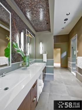 美式乡村风格装修卫生间图片