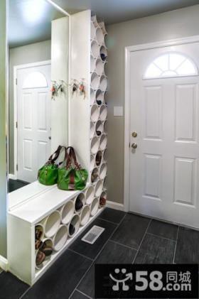 入户玄关创意鞋柜装修效果图