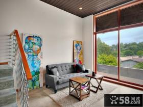 现代简约客厅装修效果图 复式楼装修效果图