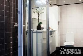 50平小户型厕所玻璃隔断装修效果图