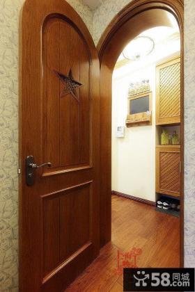 美式实木房门效果图