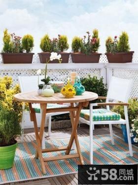 优质简约小阳台花园设计效果图欣赏