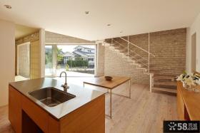 极简日式复式楼房装修效果图片