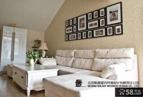 简欧风格客厅照片背景墙装饰效果图