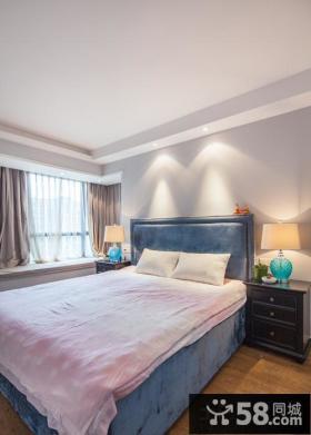 时尚美式风格主人卧室飘窗简装效果图片