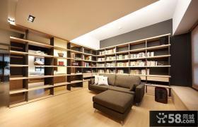 日式中式混搭小户型客厅书架隔断效果图