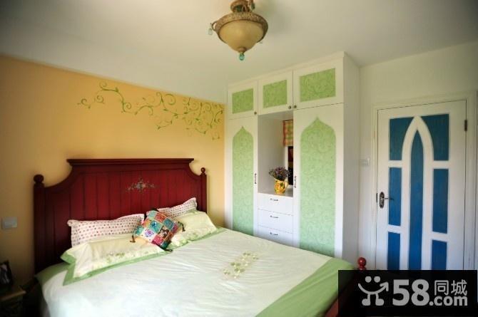 別墅臥室衣柜裝修設計 地中海吊頂裝修圖片