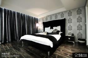 现代风格卧室床头背景墙设计效果图