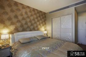 现代风格卧室壁纸效果图片