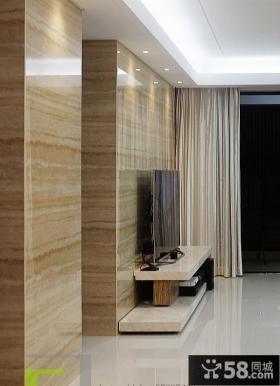 现代风格客厅瓷砖电视机背景墙效果图片大全