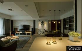 现代风格室内家庭装修吊顶图片欣赏