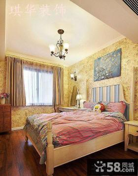 欧式卧室壁纸装修效果图大全