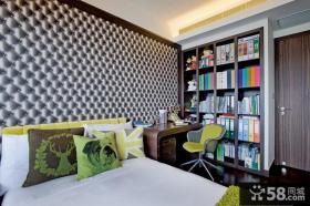 美式风格卧室书房图片