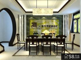 中式别墅餐厅吊顶设计