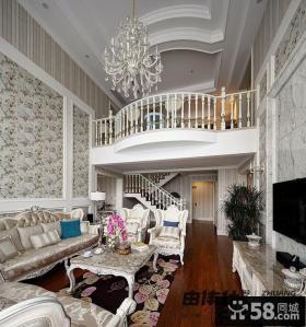 复式楼挑高客厅装修效果图