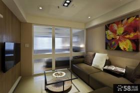 现代装饰客厅设计电视背景墙
