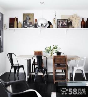 绝对简约清新含有现代元素的美式风格装修客厅图片