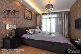 现代风格卧室床头背景墙设计图片欣赏