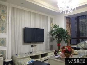 优质欧式风格小户型客厅背景墙图片欣赏