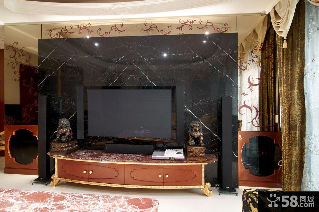 现代欧式电视背景墙装修图片图片