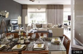 家庭公寓客餐厅软装设计图片
