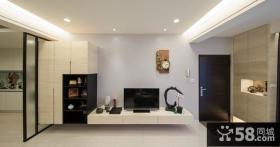 简单风格客厅电视背景墙效果图