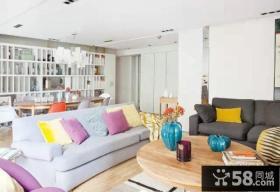 地中海简约风格三居室设计图2015