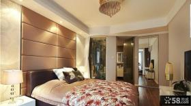 带卫生间主卧室硬包背景墙装修效果图