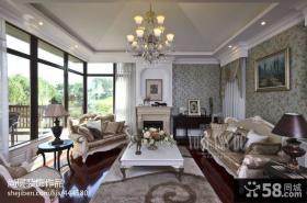 欧式别墅客厅装修效果图大全图片