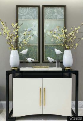 中式家居玄关桌装饰画图片