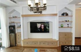 欧式风格电视背景墙装修图片2014