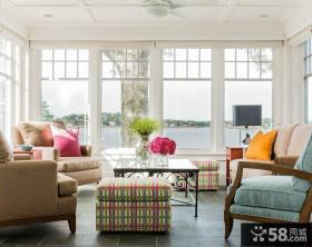 2014北欧设计客厅窗户效果图大全