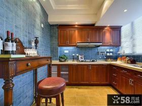 古典实木美式厨房设计