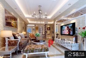 优质欧式客厅电视背景墙装修效果图大全2013图片欣赏