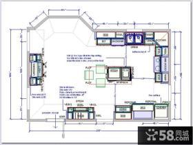 厨房布局平面图