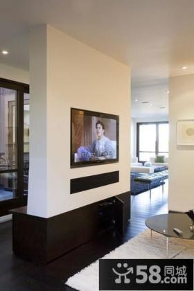 现代风格别墅电视背景墙隔断装修效果图