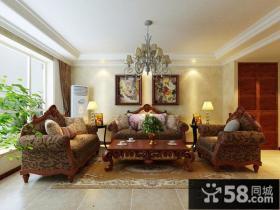 美式风格沙发背景墙装修效果图
