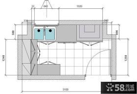 小厨房橱柜设计图纸