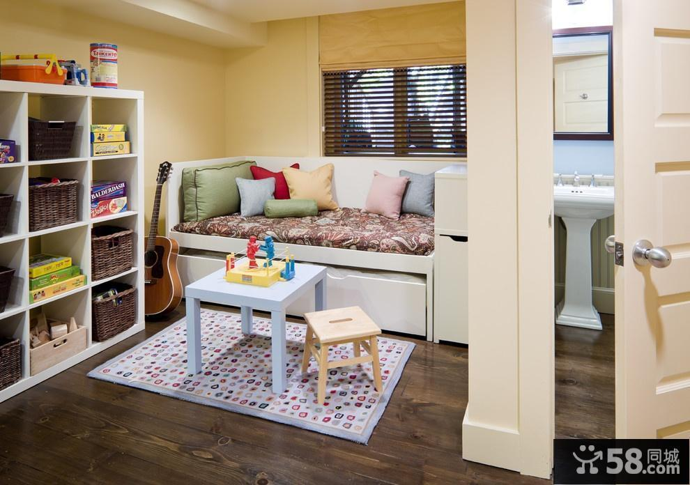 儿童卧室飘窗装修效果图