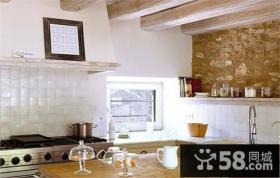 复式楼温暖明亮的西班牙风情厨房装修效果图大全2013图片