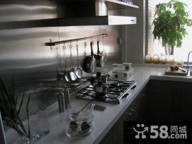 暗色调复式楼厨房装修效果图大全2014图片