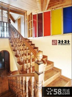 阁楼楼梯装修效果图大全2013图片