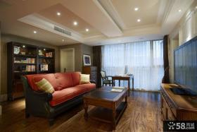 美式风格客厅电视背景墙图片欣赏