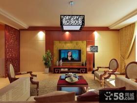 中式风格电视背景墙装修效果图大全2013图片