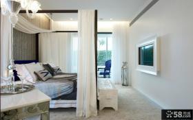 主卧室嵌入式电视背景墙装修效果图
