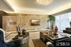 新古典装修客厅电视背景墙效果图