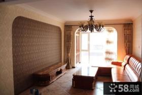 美式风格客厅壁纸背景墙装修效果图