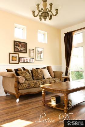 美式别墅二楼客厅装修效果图