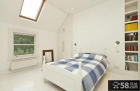 简欧式装修样板房卧室图片
