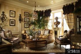 欧式别墅卧室床尾凳图片
